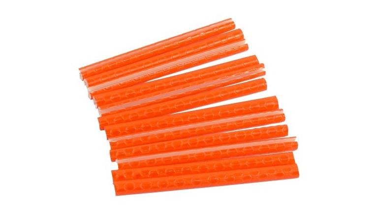Reflexní tyčinky na paprsky kola 12ks oranžové