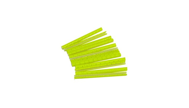 Reflexní tyčinky na paprsky kola 12ks žluté