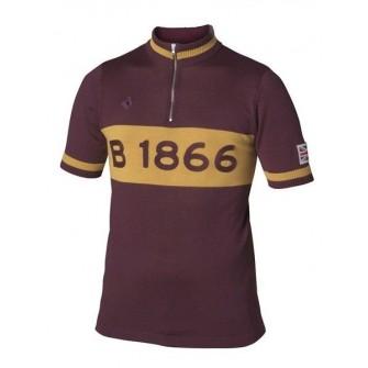 BROOKS B1866 Jersey Burgundy TG - cyklistický dres - zepředu