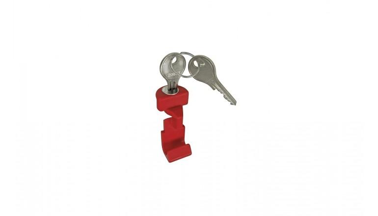 KLICKfix červené tlačítko s klíčem