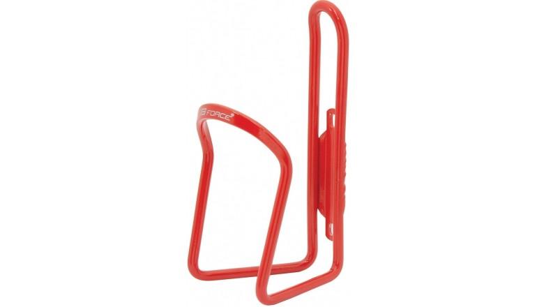 Košík na láhve FORCE KLAS Al lesklý -červený