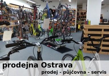 Prodejna v Ostravě - koloběžky Kostka a brašny Ortlieb